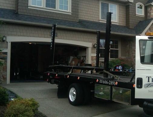 Towing a 4-post automotive lift