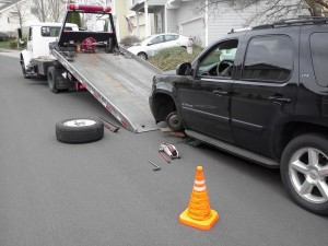 Damaged Vehicle Towing